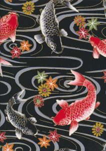 Cosmo & Sevenberry Japanese fish fabric