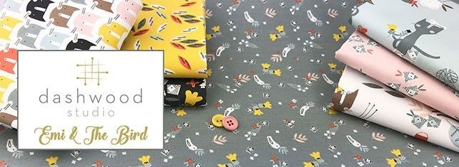 Dashwood Studio SUMMER DANCE Bird /& Bee 100/% Cotton Patchwork Craft Fabric