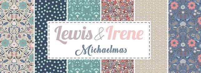Lewis /& Irene MICHAELMAS Metallic Autumn Garden Floral Cotton Patchwork Fabric