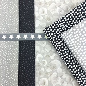 Natural, Grey & Black Blender Fabrics