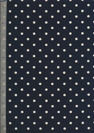 Linen Look Cotton 046/20 - Small Spot Navy