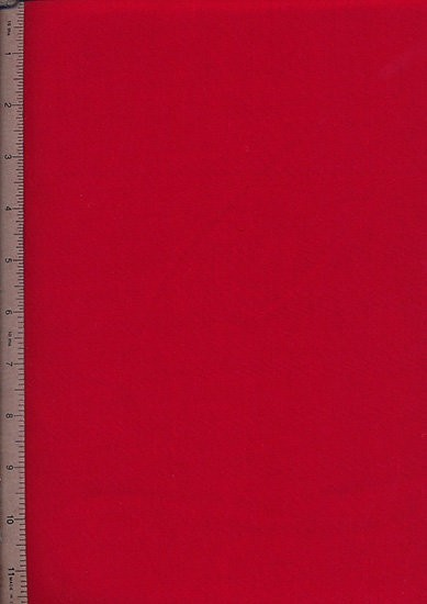 Poly Cotton Plain - Red