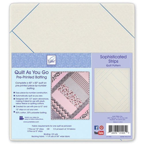 Quilt as you go 80/20 Cotton Blend - Sophisticated Strips