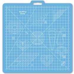 June Tailor Cutting Mat 23 x 23 inch grid with templates
