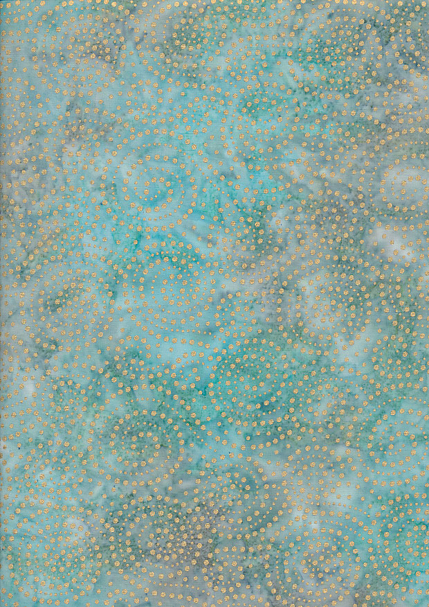 Bali Batik - DHL19206 Metallic Swirl Sea/Gold