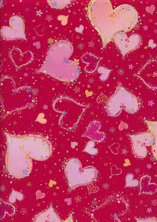Quilting Treasures - Hearts Turnowsky SS-0003-3 Red