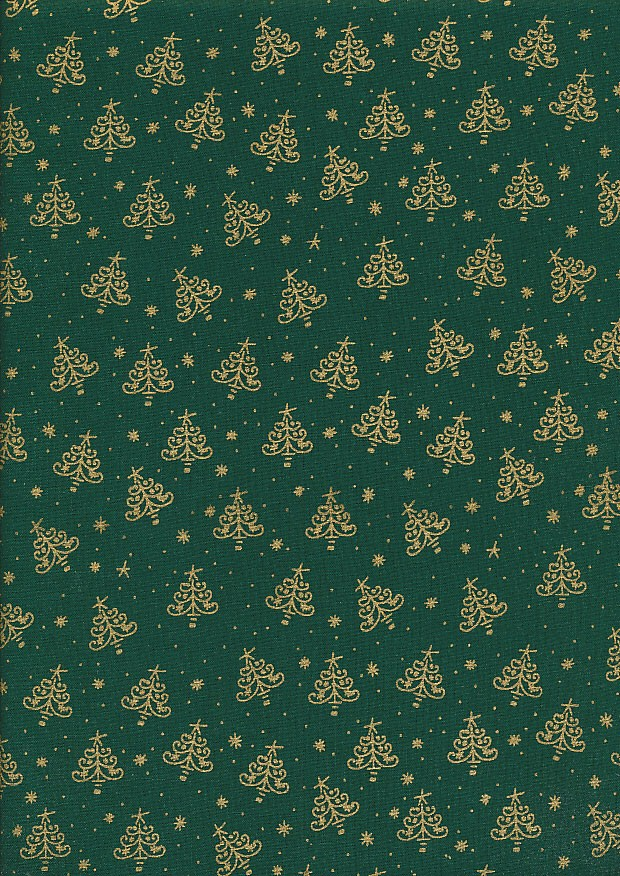 Christmas Metallics - 1-Xmas Tree Green/Gold