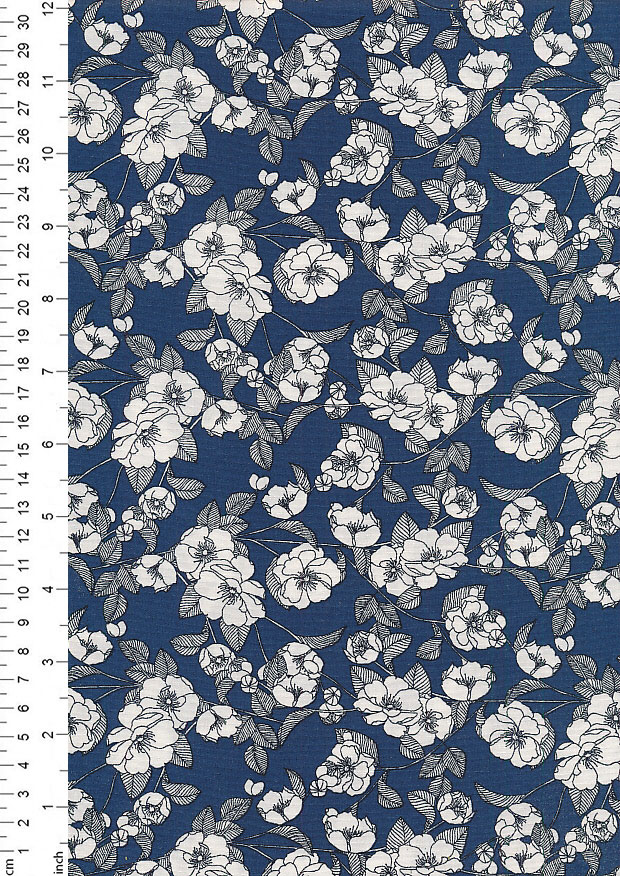 Rose & Hubble - Quality Cotton Print CP-0756 Teal