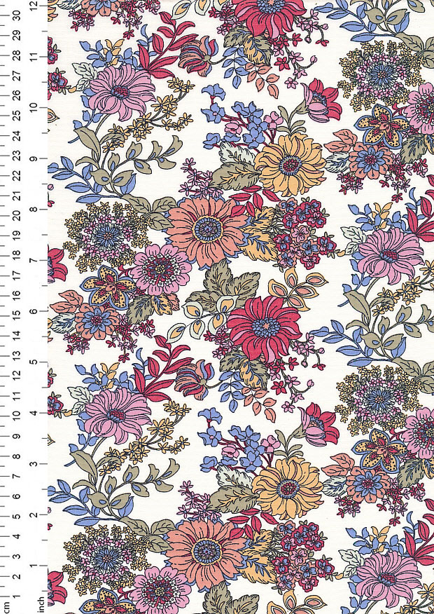 Rose & Hubble - Quality Cotton Print CP-0816 Ivory