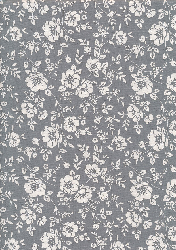 Rose & Hubble - Quality Cotton Print CP-0742 Grey/Ivory
