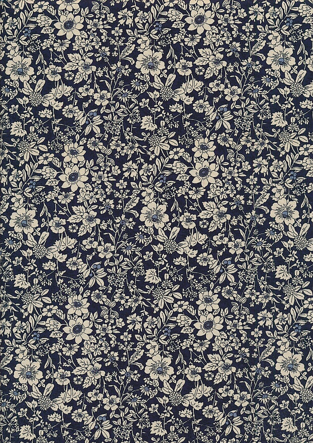Rose & Hubble - Quality Cotton Print CP-0221 Navy