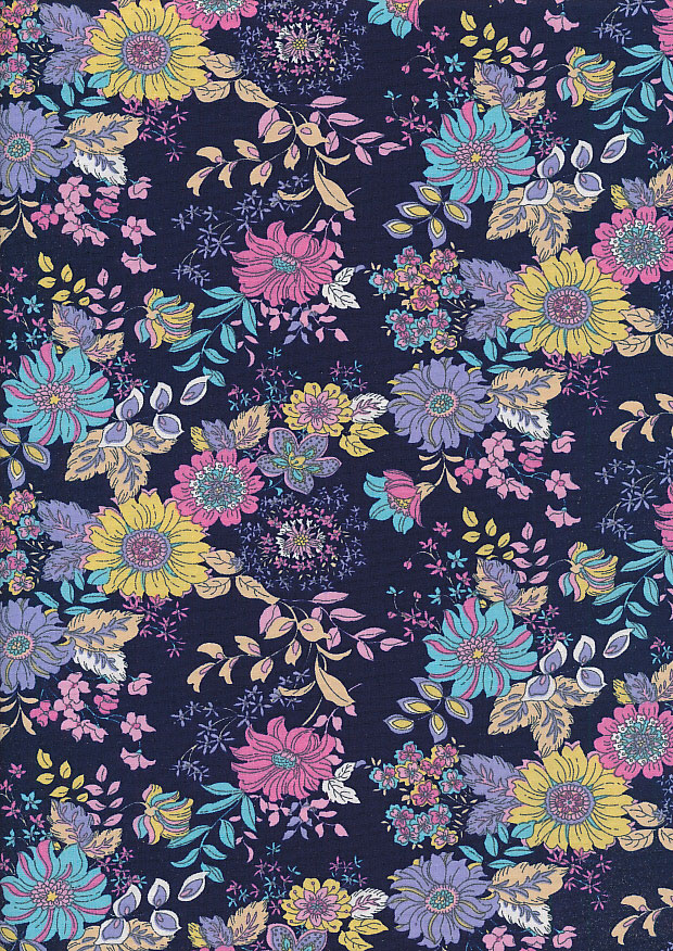 Rose & Hubble - Quality Cotton Print CP-0816 Navy