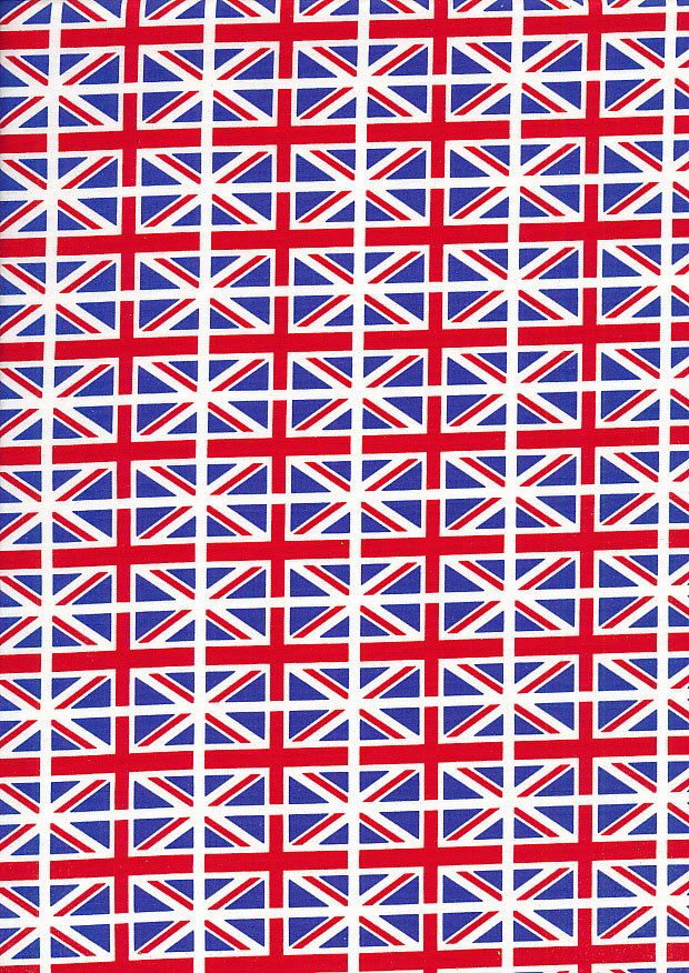 Rose & Hubble - Quality Cotton Print CP-0118 Allover Union Jack