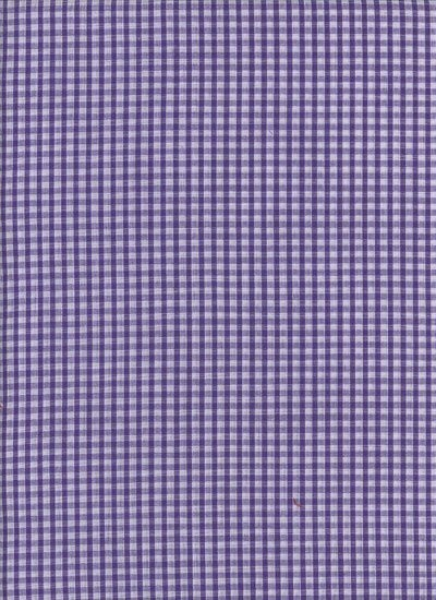 Poly-Cotton Gingham - Purple
