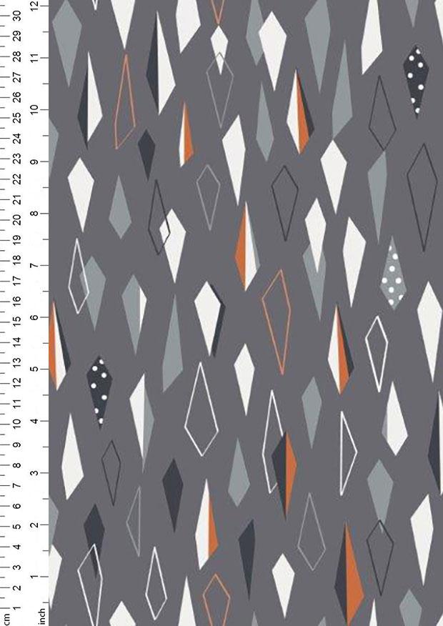 Cotton Fabric Metre Dashwood Copper Metallic Twist
