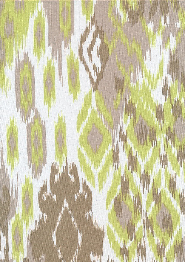 Lady McElroy Viscose Spandex Jersey - Green & Brown Zebra Skin