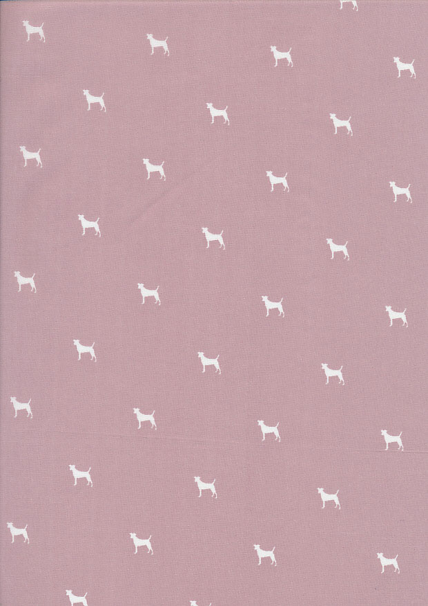 Lady McElroy Cotton Lawn Dogs -Pink