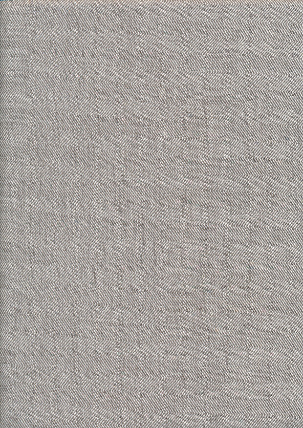 Lady McElroy Linen - Taupe Herringbone