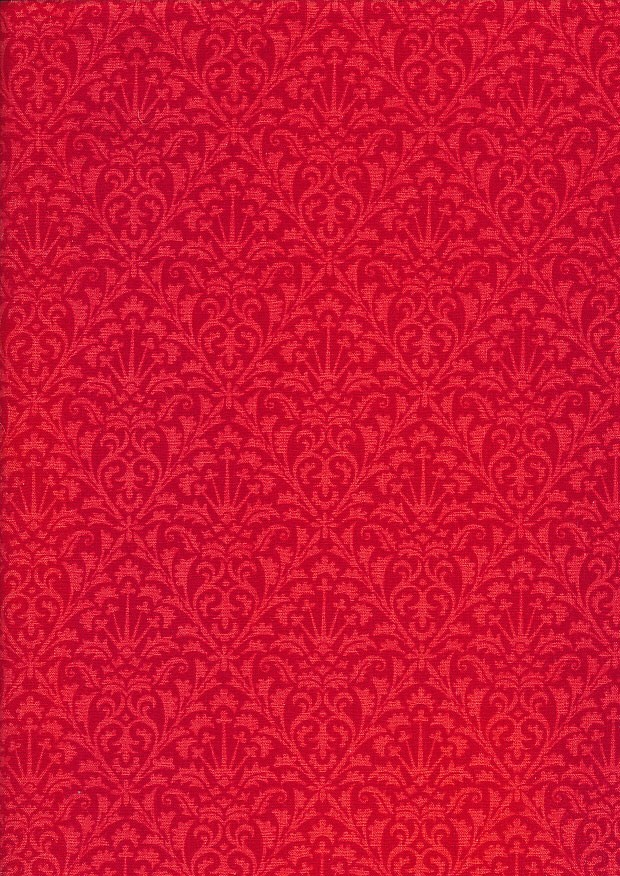 Extra Wide Rococo by John Louden - Red