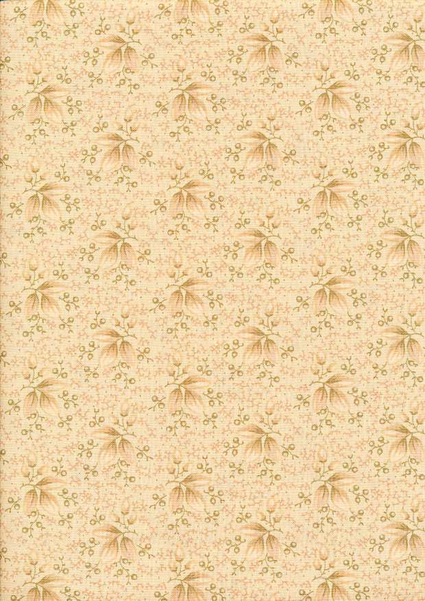P&B Extra Wide - Scattered Leaves Light Taupe