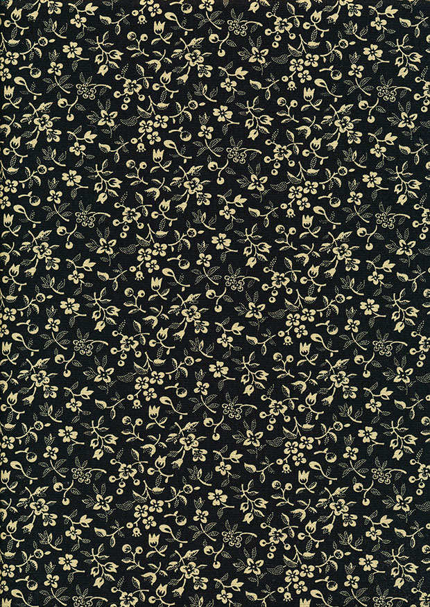 P&B Extra Wide - Scattered Flowers Black