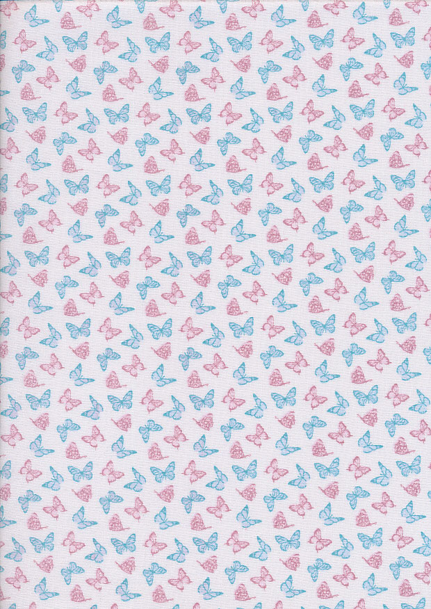 Fabric Freedom - Butterflies & Birds Collection FF244-1 IVORY