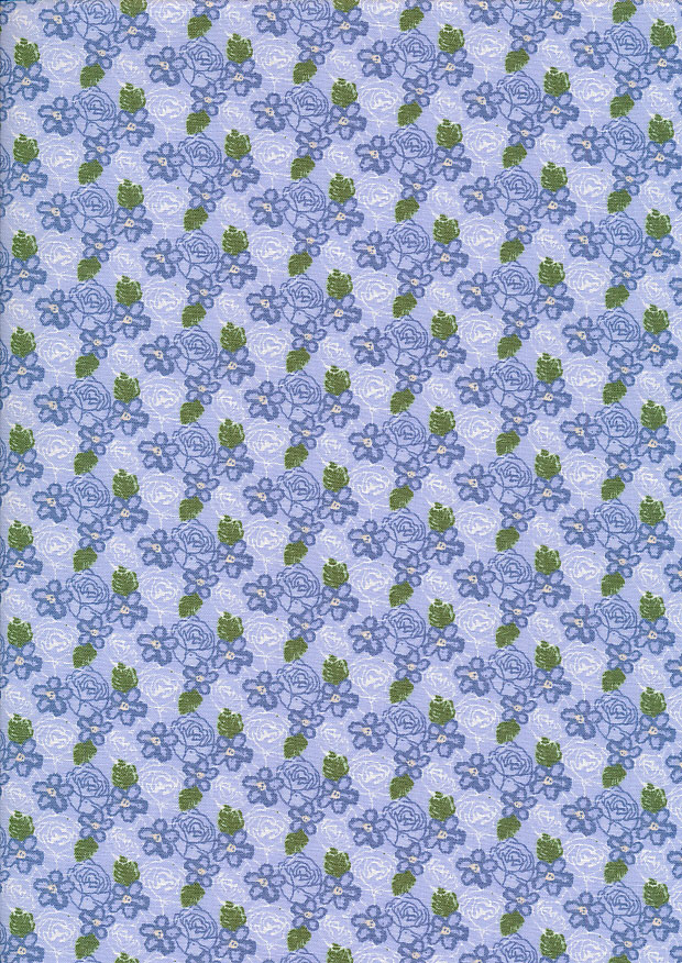 Fabric Freedom - Butterflies & Birds Collection FF243-2 BLUE