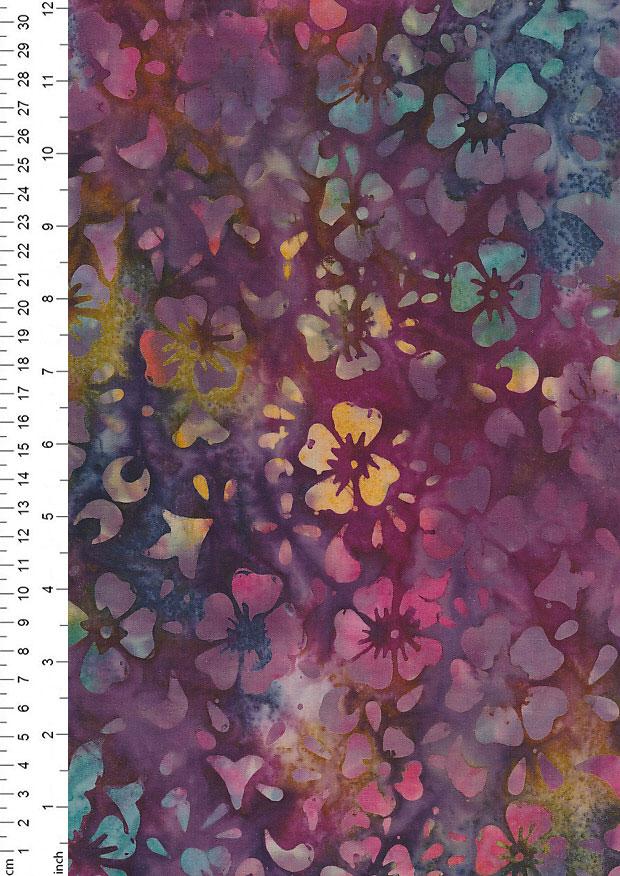 FF Freedom Watercolour Flower Batik Floral 100/% Cotton Fabric