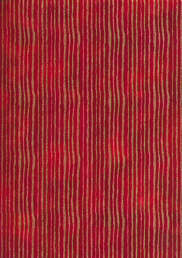 Fabric Freedom Traditional Gilded Christmas - Lines FF513-1 Red