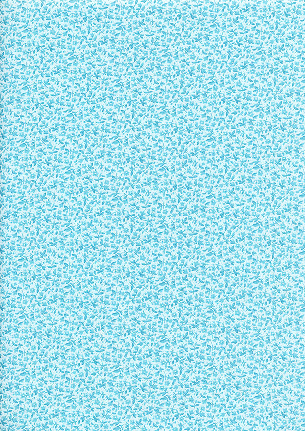 Fabric Freedom - Floral Delight Blue 353-1