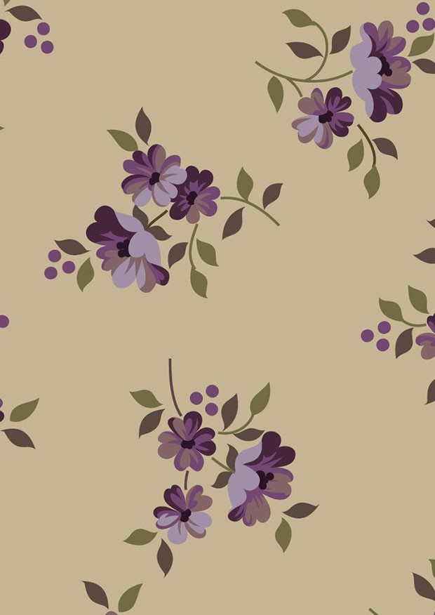 Ginger Lily Studio - Lincoln Lane Small Purple Floral