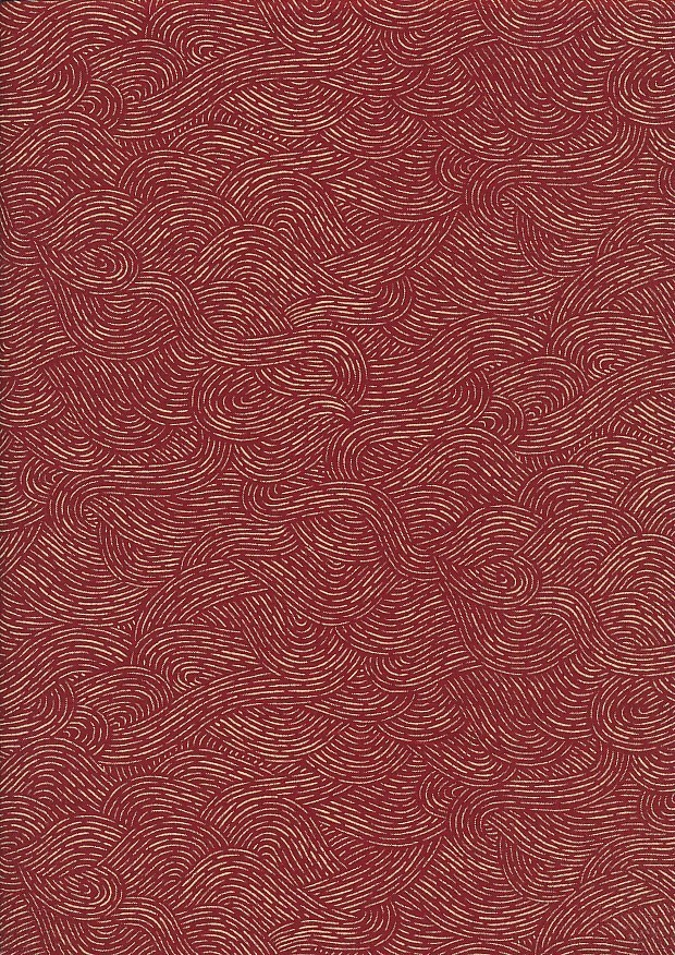 Sevenberry Japanese Fabric - Stormy Sea Red
