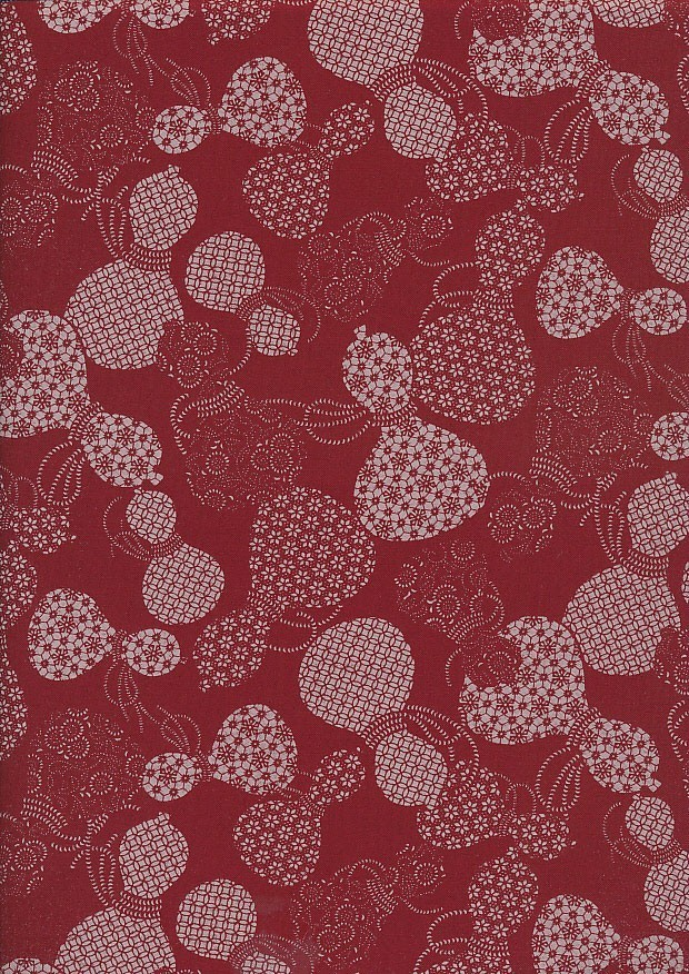Sevenberry Japanese Fabric - Urns Red
