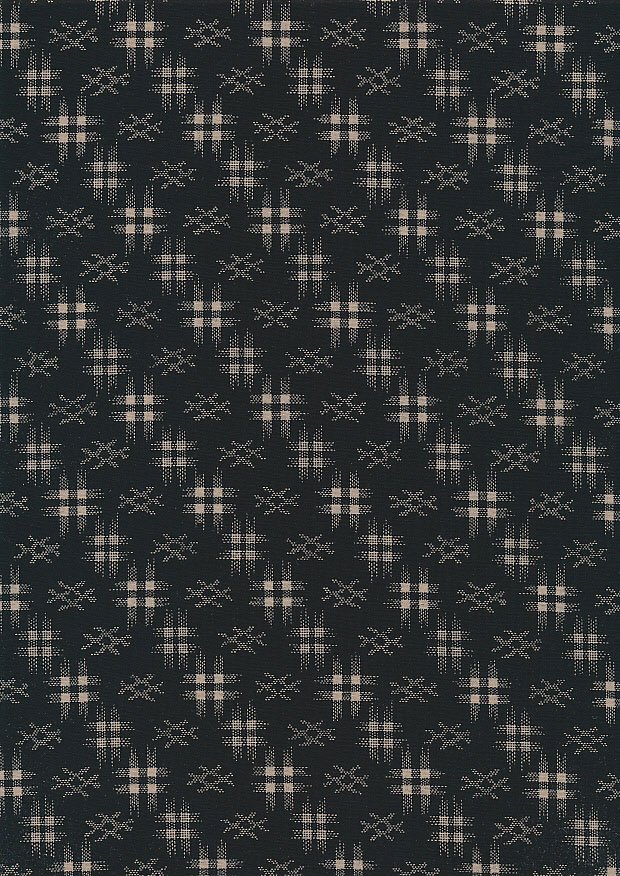 Sevenberry Japanese Fabric - Faded Grid Black