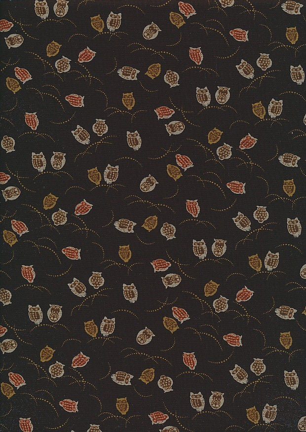 Sevenberry Japanese Fabric - Owls Brown