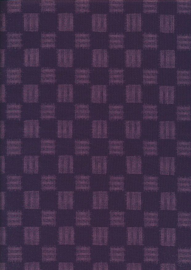 Sevenberry Japanese Fabric - Checks Purple