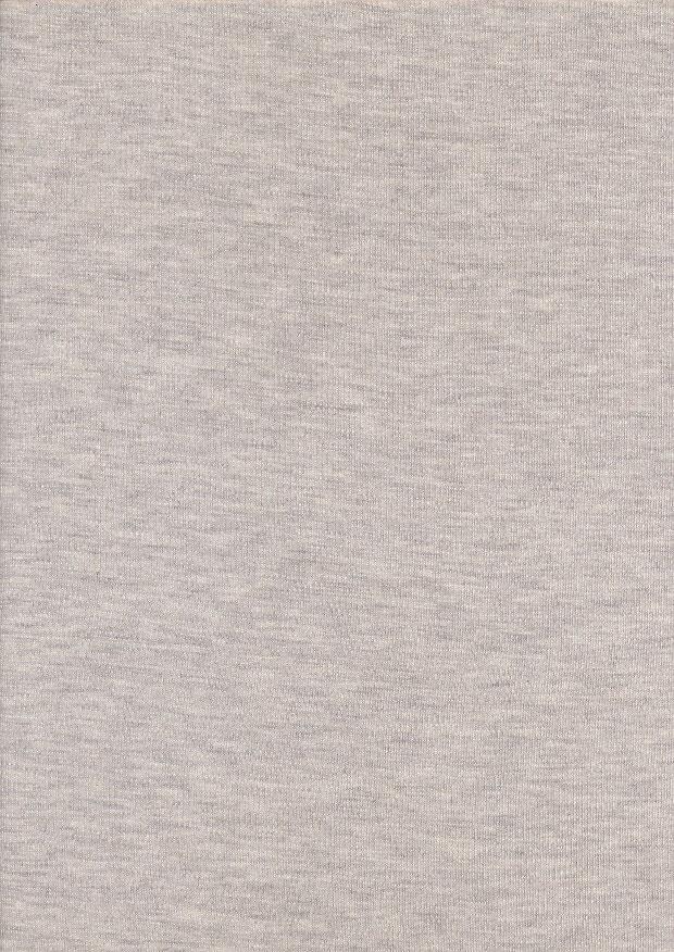 a9f36c63af5 Cotton/Viscose Ponte Roma Jersey - Marl Oatmeal
