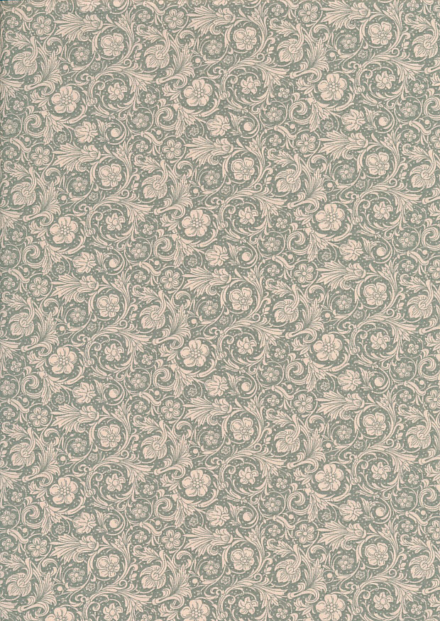 Quality Cotton Print - Floral Swirl Green