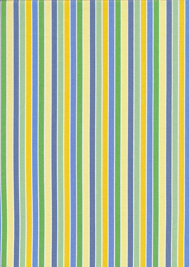 John Louden Organic Cotton Prints - Newborn Baby Range Stripe JL CO 386 Col Blue