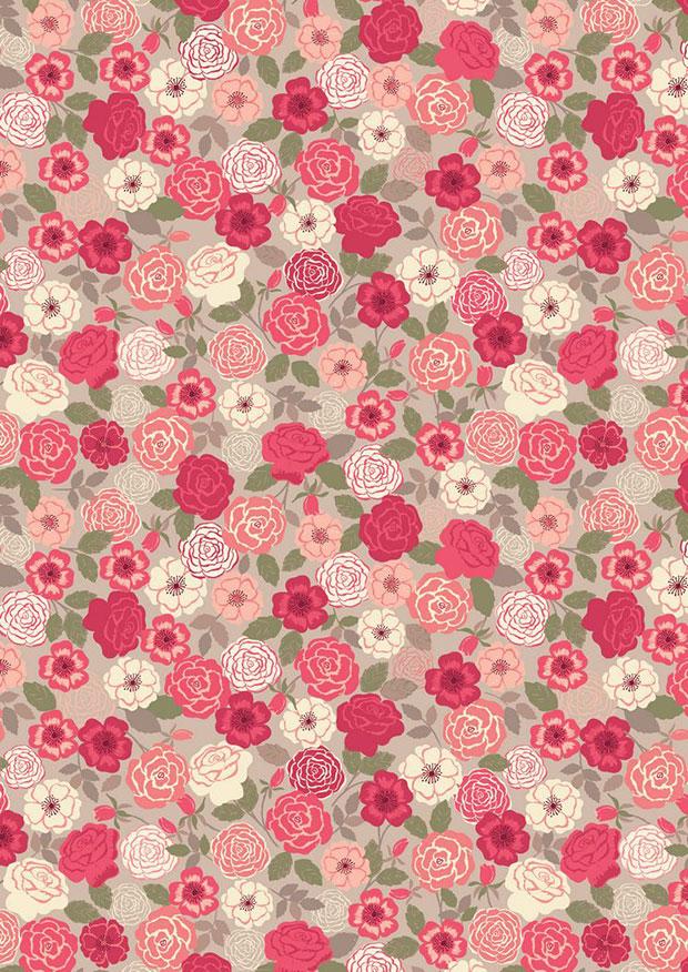 Lewis & Irene - Flo's Wild Flowers FLO9.4 - Red Wild Rose