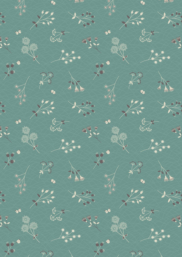 Lewis & Irene - The Hedgerow A252.2 - Hedgerow Flowers On Warm Grey