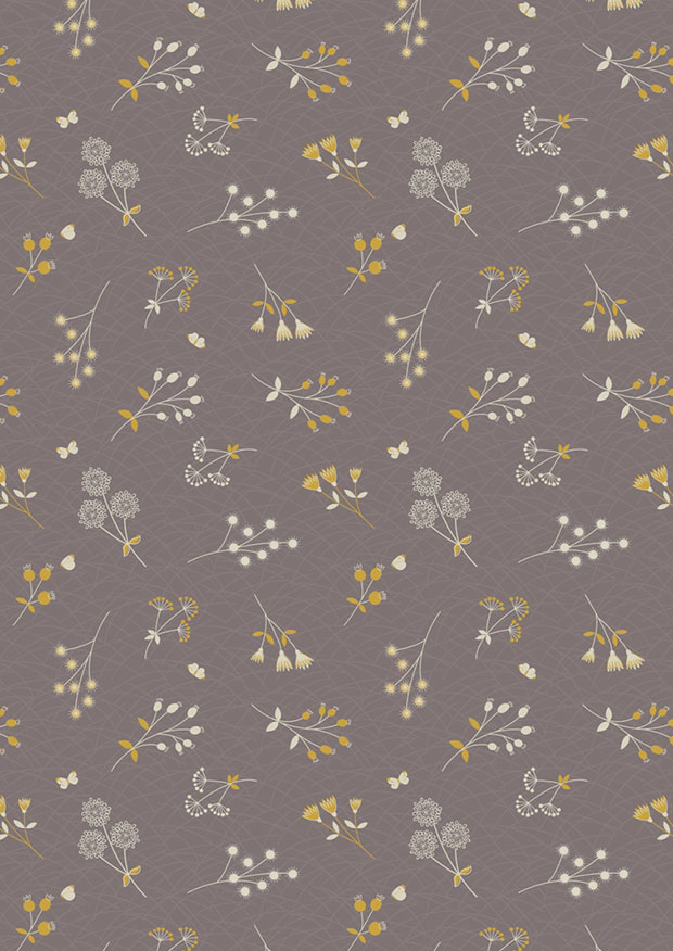 Lewis & Irene - The Hedgerow A252.3 - Hedgerow Flowers On Field Grey