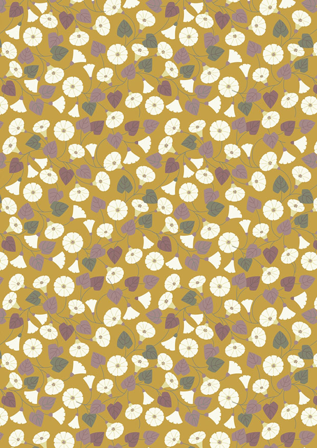 Lewis & Irene - The Hedgerow A254.1 - Granny-pop-out-of-beds On Mustard Yellow