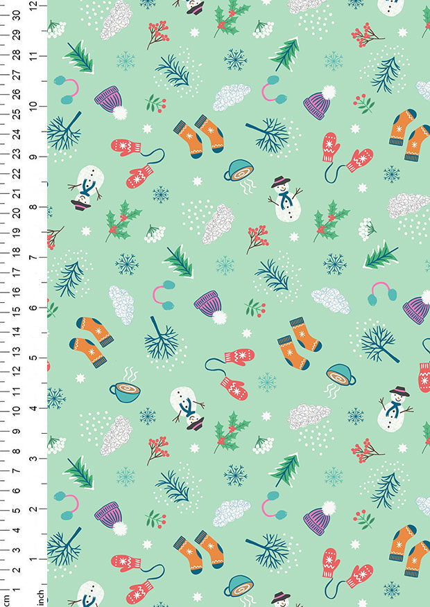 Spring on Cream Lewis /& Irene 100/% Cotton Fabric Novelty Whatever the Weather