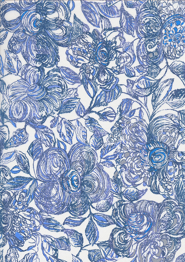 Liberty Cotton Lawn - Floral Blue LOR254