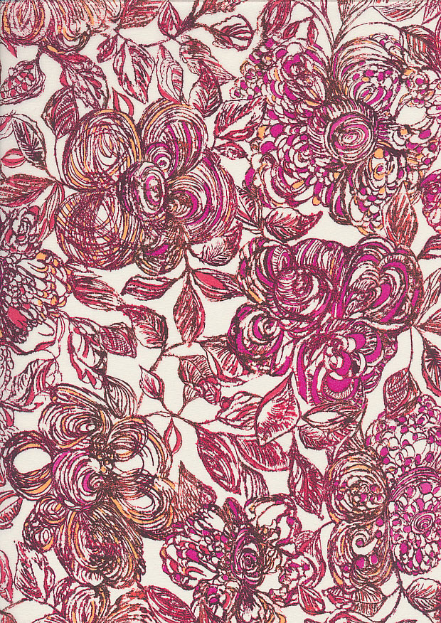 Liberty Cotton Lawn - Pink Floral LOR257