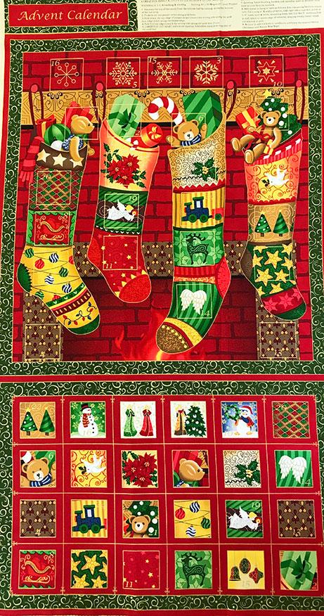 Fabri quilt advent calendar panel seasons greetings 103 240 m4hsunfo
