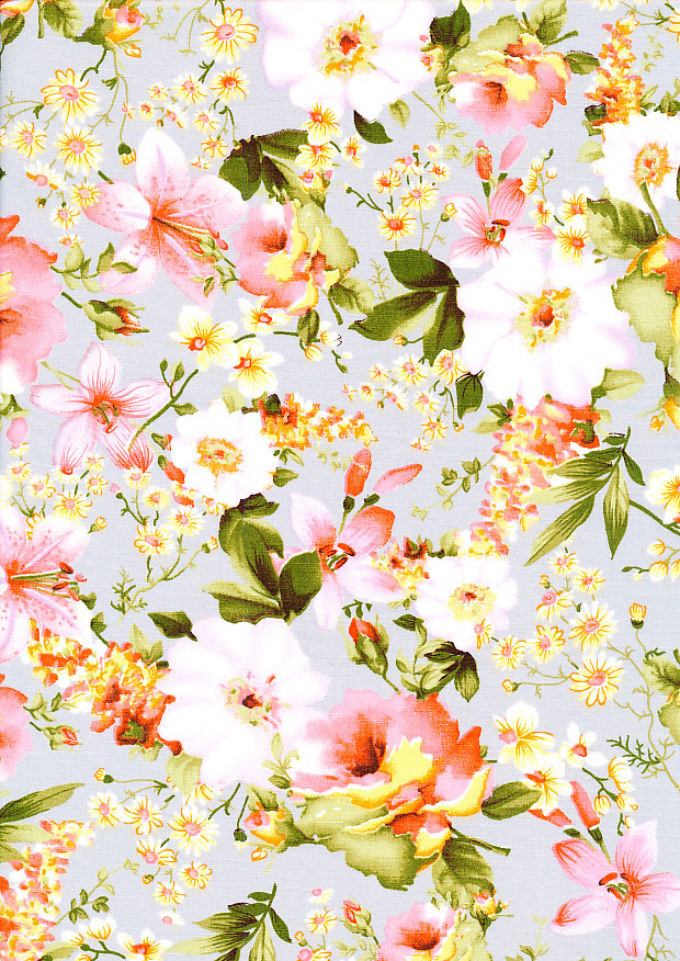 Rose & Hubble Tropical Floral - Silver CP0386 Col 02