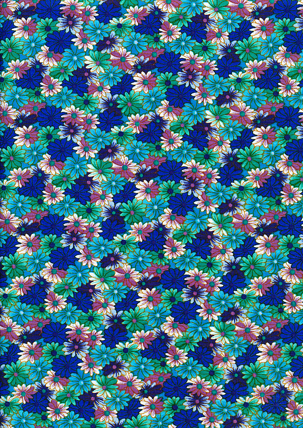 Rose & Hubble Floral Gathering - Blue 7673 Col 02
