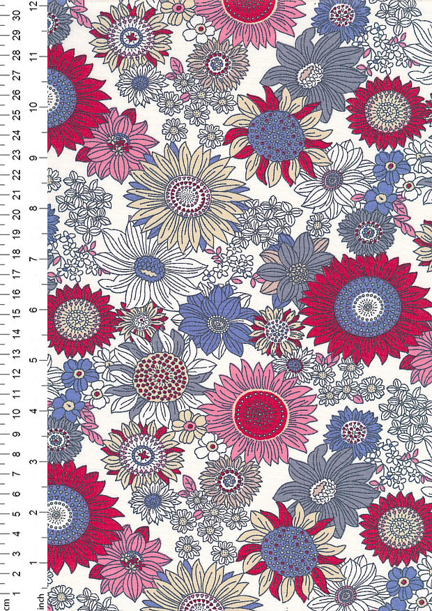 Rose & Hubble - Quality Cotton Print CP-0736 Red